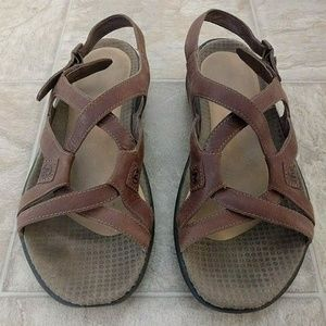 Merrell Agave Strappy Open Toe Buckle Slingback 8
